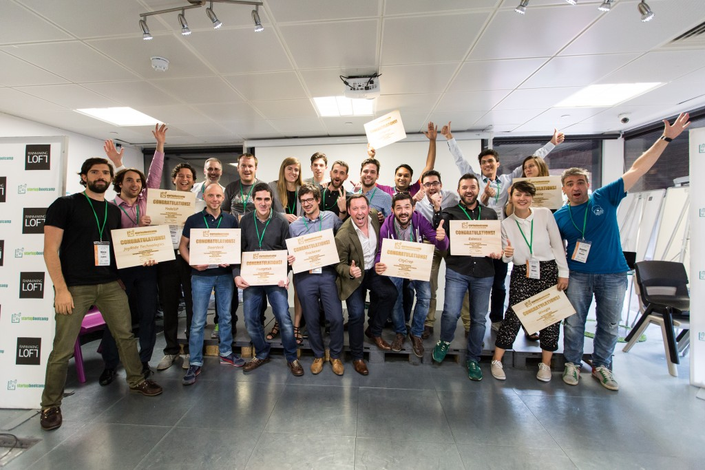 The 2016 cohort for Startupbootcamp IoT   Connected Devices.