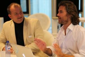 Marc Wesselink with Startupbootcamp Amsterdam founder Patrick de Zeeuw